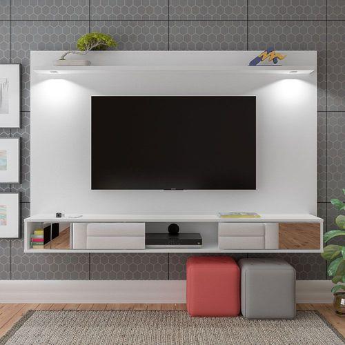 Painel para TV até 47 Polegadas 2P c/Esp e LED Platinum Branco - Artely