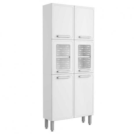Paneleiro de Aço 6 Portas Vidro Temperado 7039 Gourmet Bertolini Branco