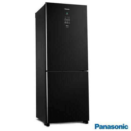 Refrigerador Panasonic NR BB53GV3BA Inverter  425L Vidro Preto