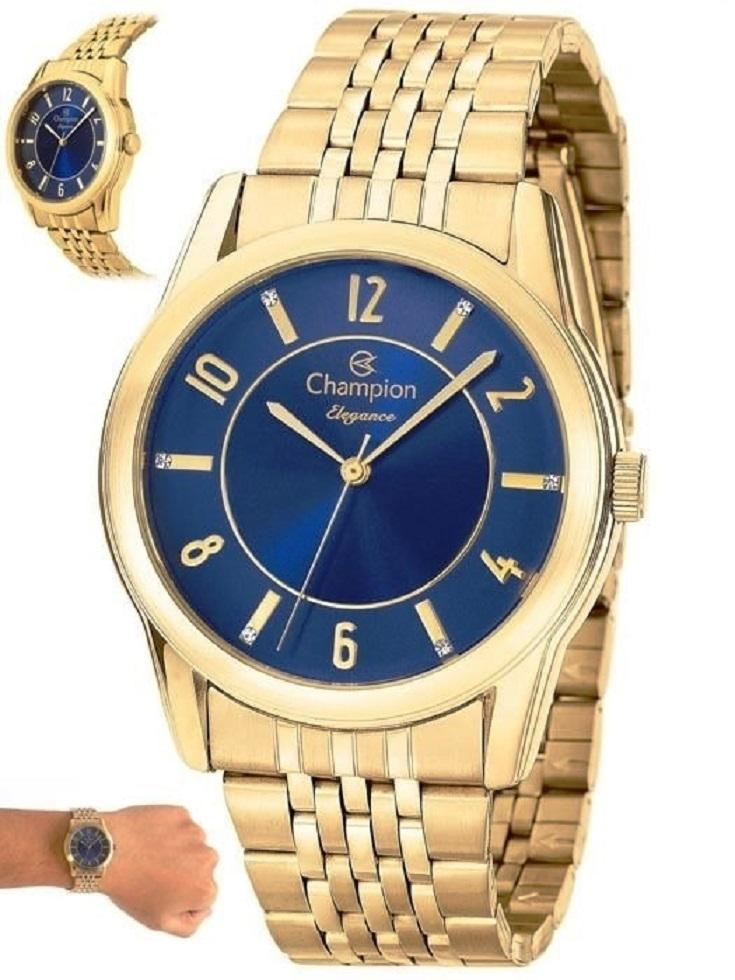 Relógio Champion Dourado Feminino CN26233A