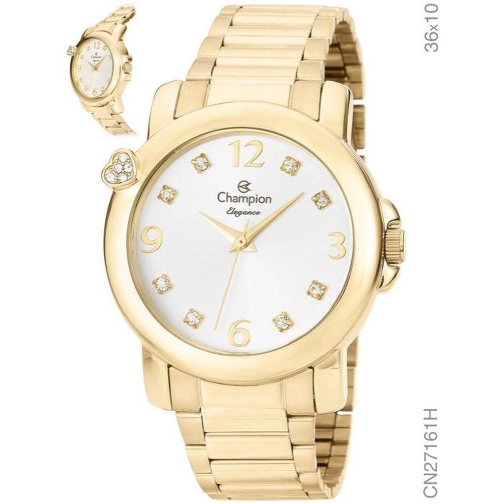Relógio Champion Elegance Feminino Dourado CN27161H