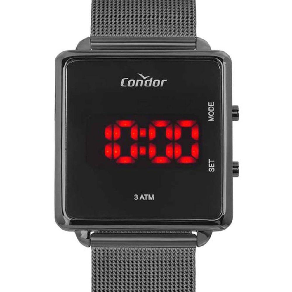 Relógio Condor Feminino Digital Led COJHS31BAC/4C Preto