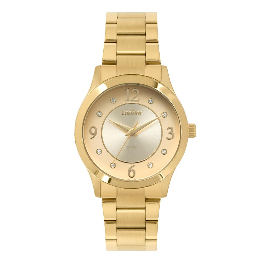 Relógio Feminino Condor CO2036KVB4D - Dourado