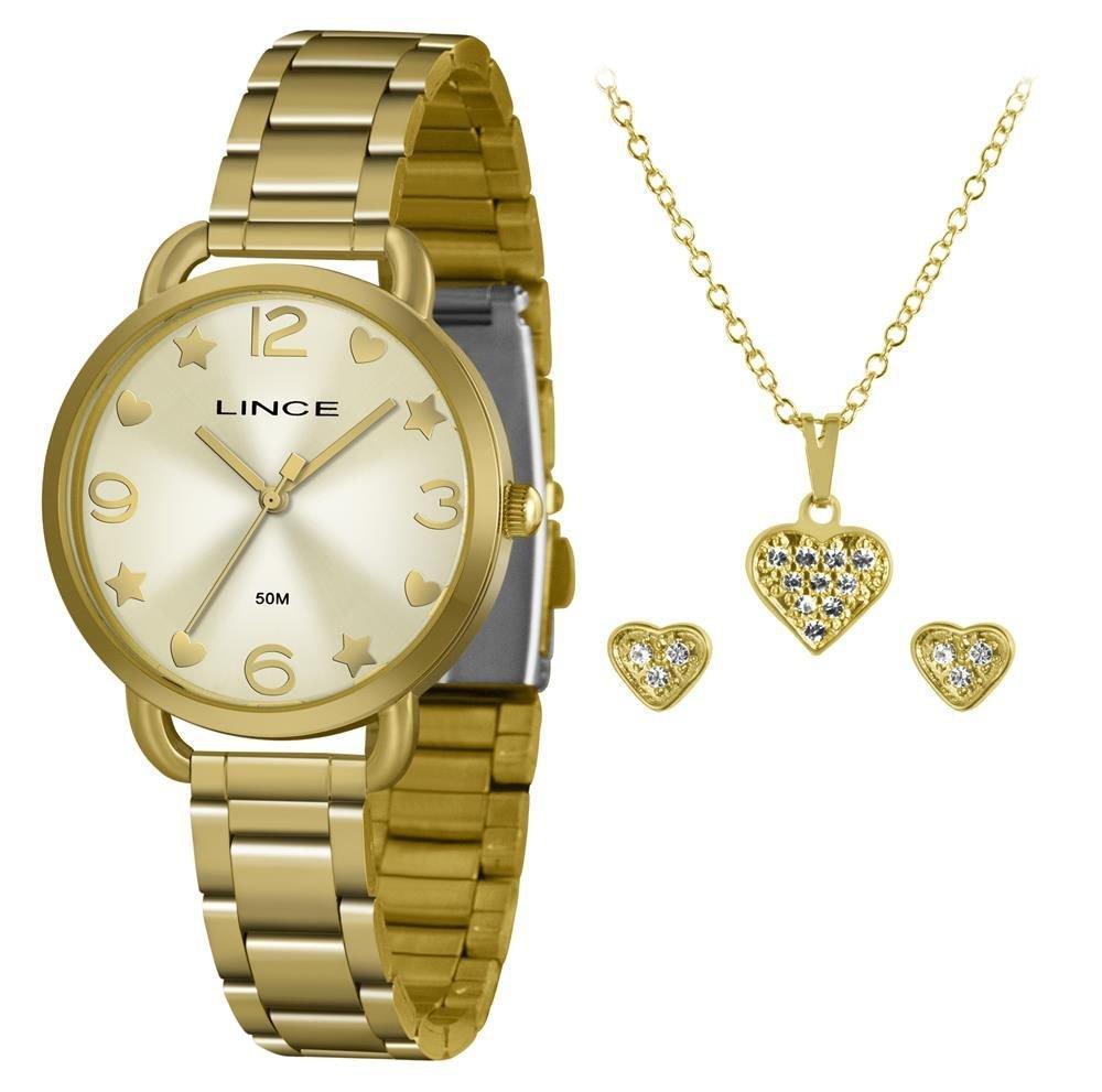 Relógio Feminino Lince LRGH126L KX17C2KX Dourado