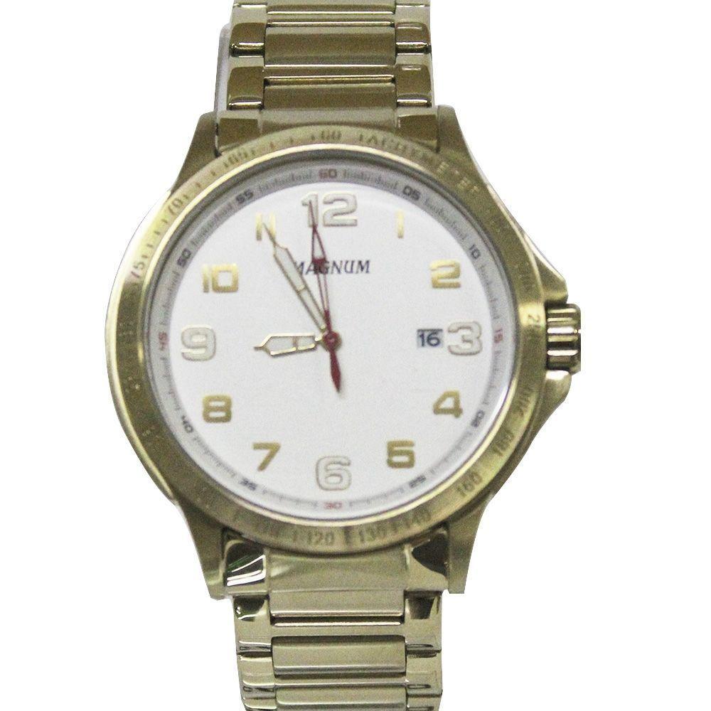 Relógio Masculino Magnum MA31355H Dourado