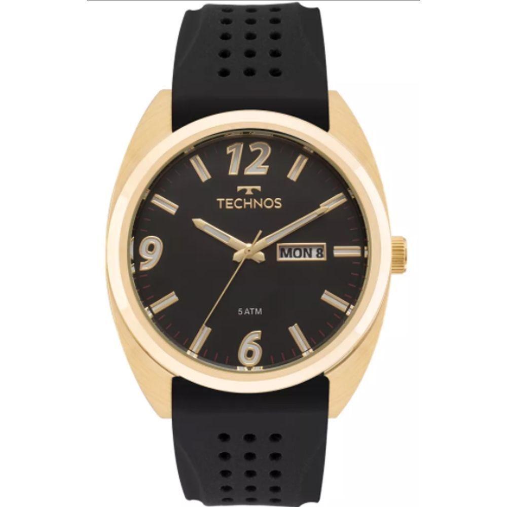 Relógio Masculino Technos 2305AT/8P Dourado Preto