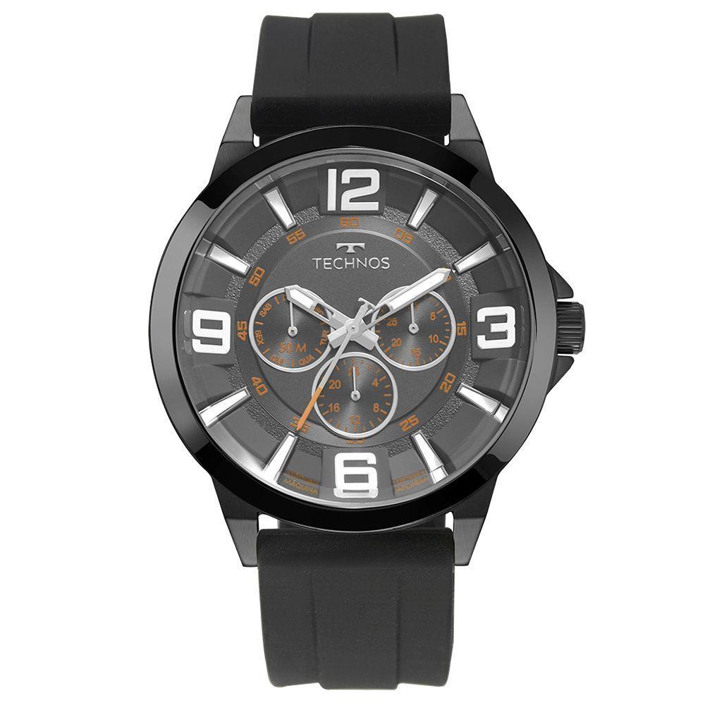 Relógio masculino Technos silicone 6P79BN/8P Preto