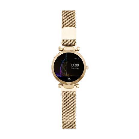 Relógio Smartwatch Dubai Atrio Android/Ios Dourado - ES266