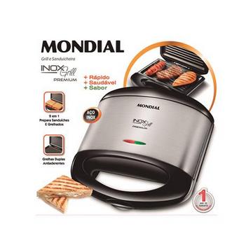 Sanduicheira Mondial S-07 Inox Grill Premium