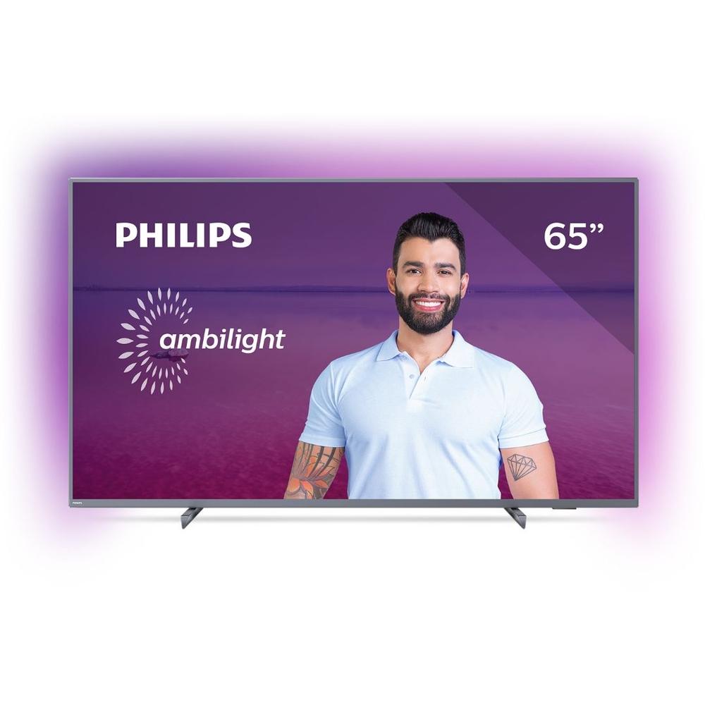 Smart TV LED 65'' Philips 65PUG6794 4K Ultra HD AMBILIGHT 3 Lados HDR10+ Dolby Vision Dolby Atmos Bluetooth Wifi 3 HDMI 2 USB - Prata