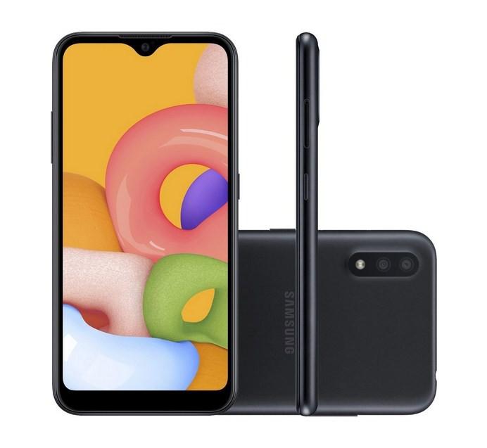Smartphone Galaxy A01 Samsung 32GB - Preto