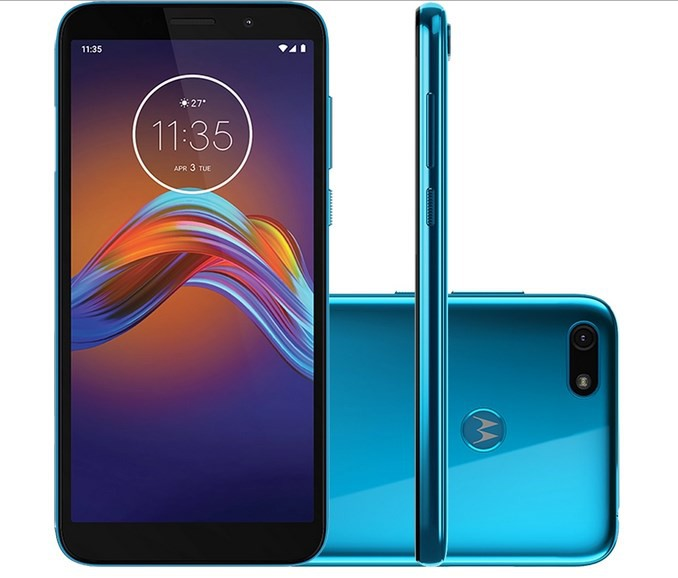 Smartphone Motorola Moto E6 Play Azul Quad Core 1,5GHz Dual Chip 4G RAM 2GB/32GB Tela 5.5