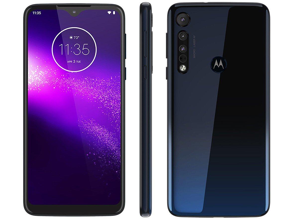 Smartphone Motorola One Macro 64GB Azul Espacial - 4G 4GB