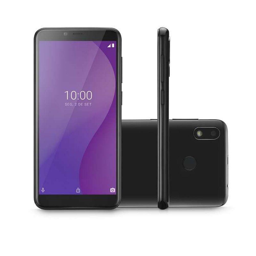 Smartphone Multilaser G NB760 Preto 4G 16GB Octa Core Android 9.0 GO