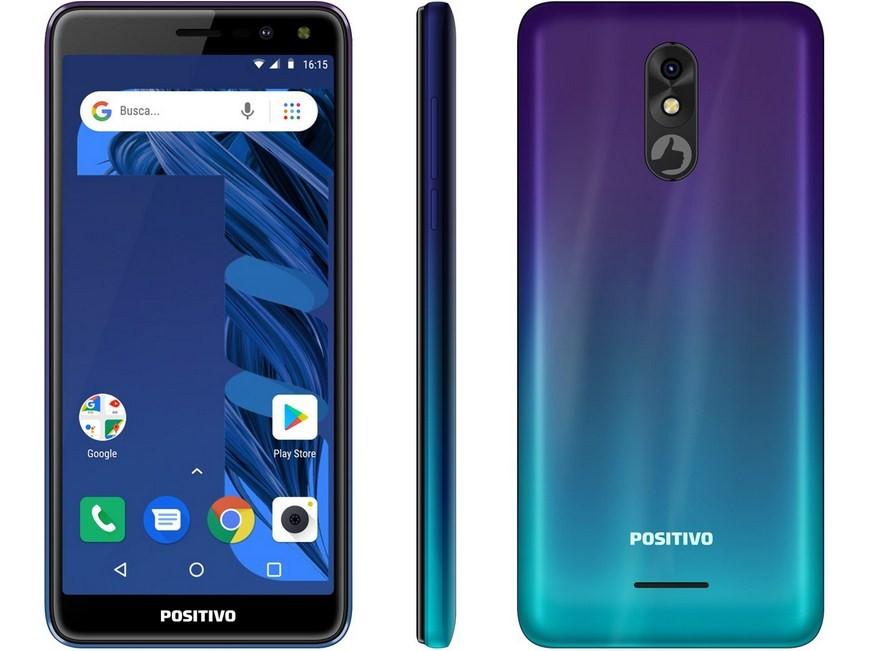Smartphone Positivo S533 Twist 3 Pro 64GB Aurora