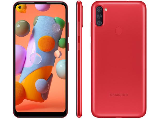 Smartphone Samsung Galaxy A11 A115 64GB 4G Vermelho