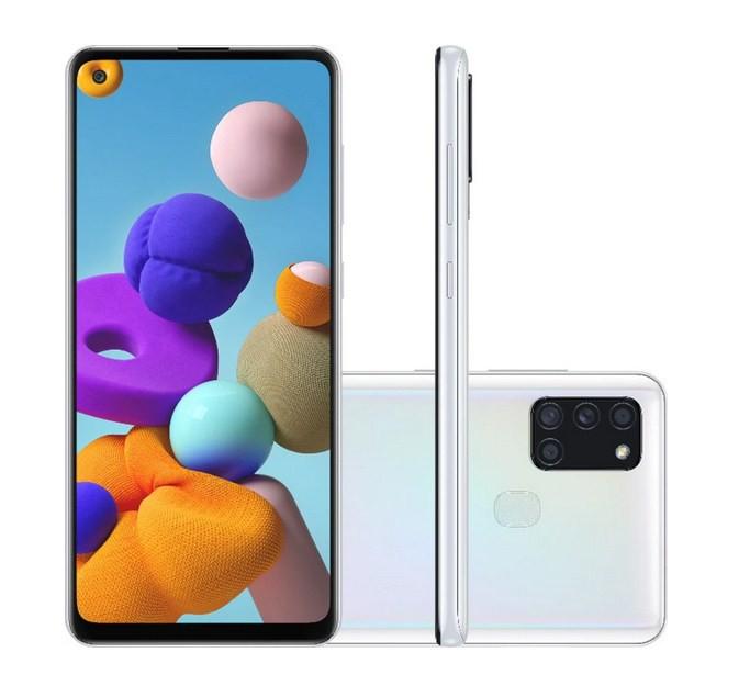 Smartphone Samsung Galaxy A21s 64GB Octa-Core 4G Branco