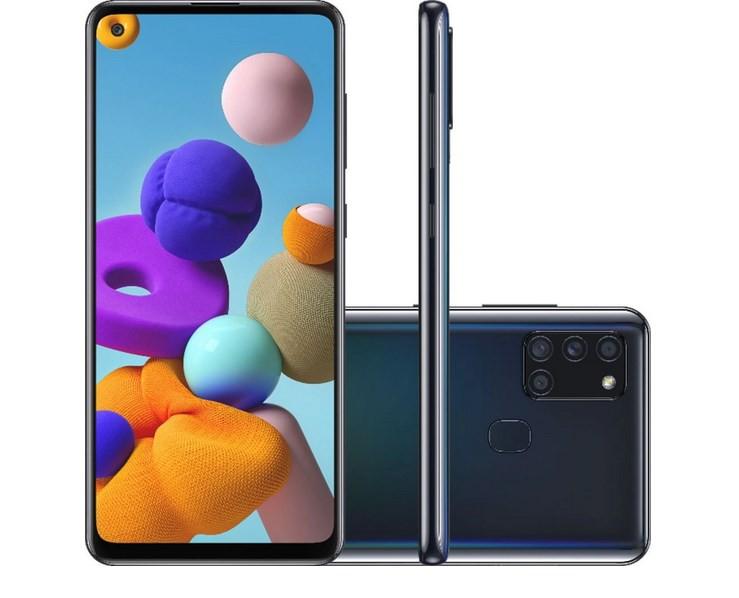 Smartphone Samsung Galaxy A21s 64GB Octa-Core 4G Câmera Quádrupla Preto