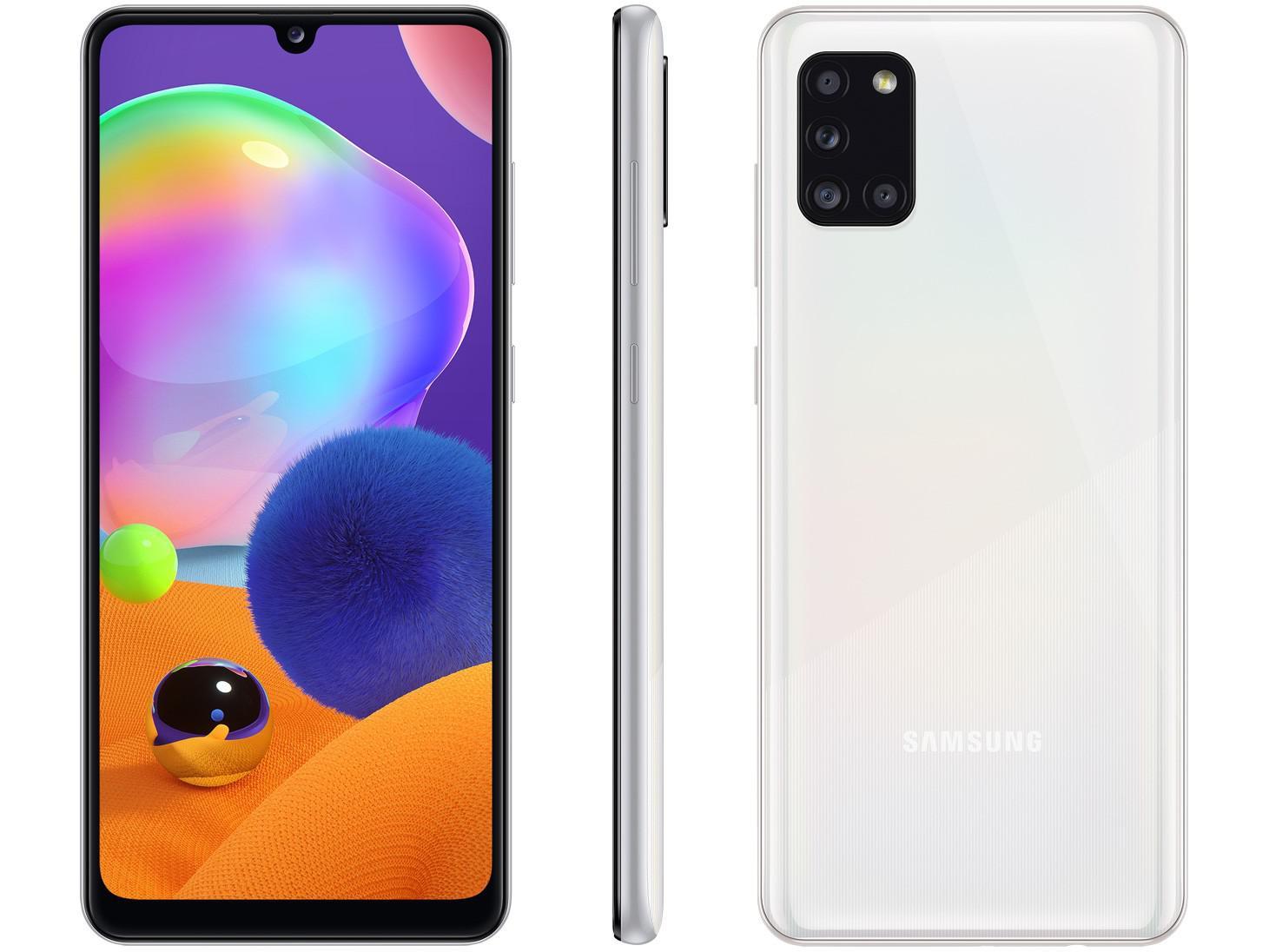 Smartphone Samsung Galaxy A31 128GB 4G Câmera Quádrupla Branco