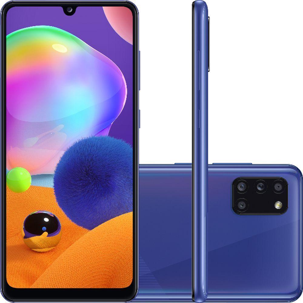 Smartphone Samsung Galaxy A31 128GB 4G Câmera Quádrupla Azul