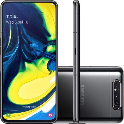 Smartphone Samsung Galaxy A80 SM-A805F/DS Dual SIM 128GB 6.7 45MP 8MP 3D Rotativa Preto
