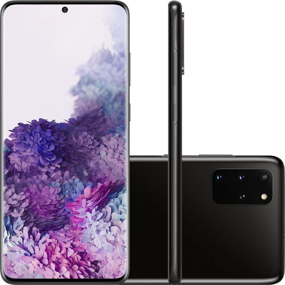 "Smartphone Samsung Galaxy S20+ 128GB Cosmic Black - 8GB RAM Tela 6,7"" Câm. Quádrupla + Selfie 10MP"