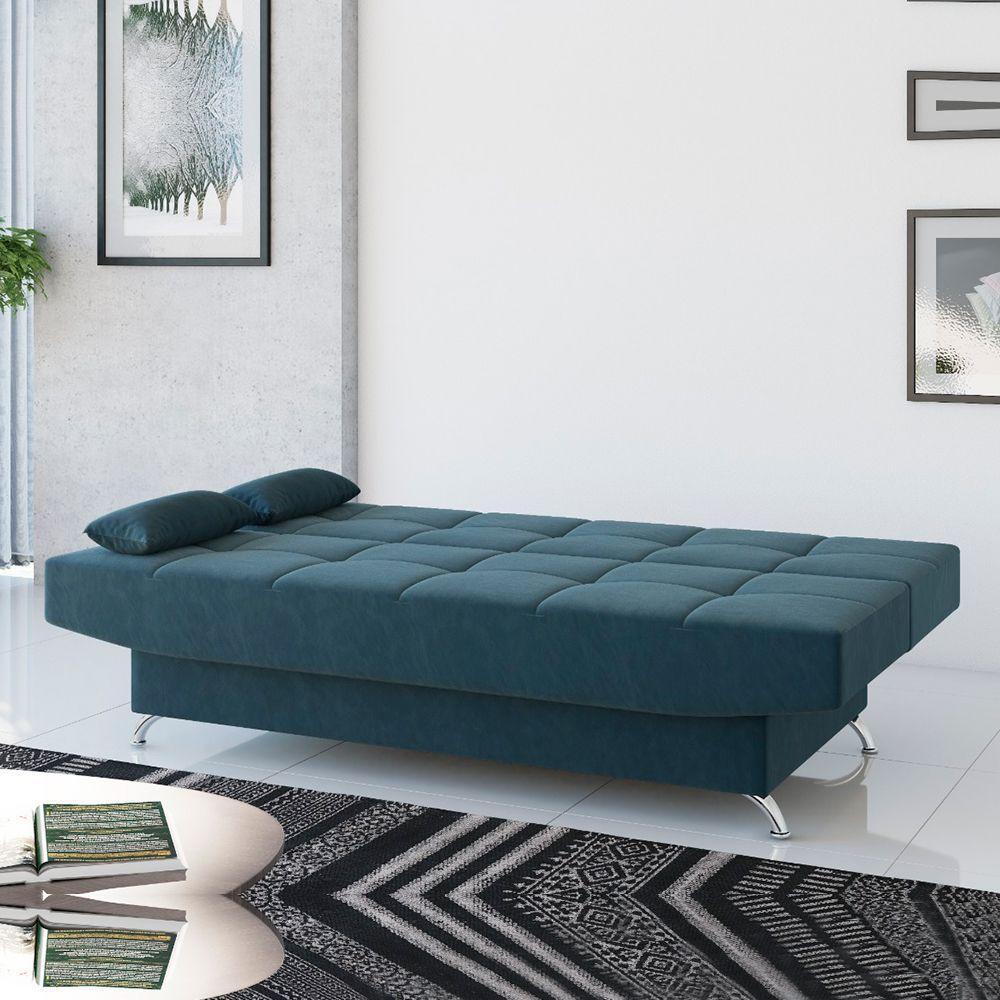 Sofá-cama Glamour Viero Azul Petróleo