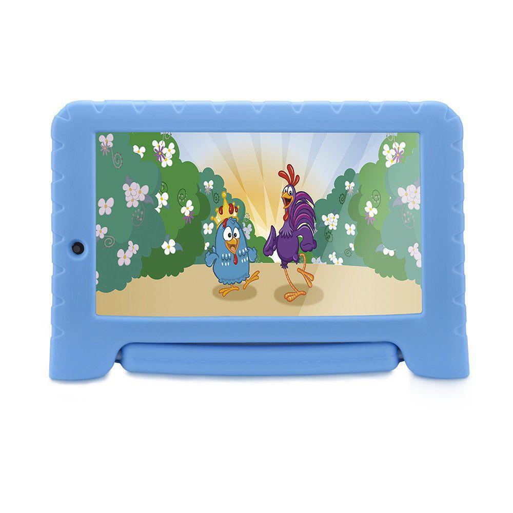 Table Infantil Multilaser Galinha Pintadinha Plus 16Gb Dual Câmera Android Azul - NB311