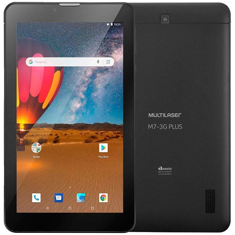 Tablet Multilaser  NB304 M7 3G Plus Tela 7 3G 16GB Preto