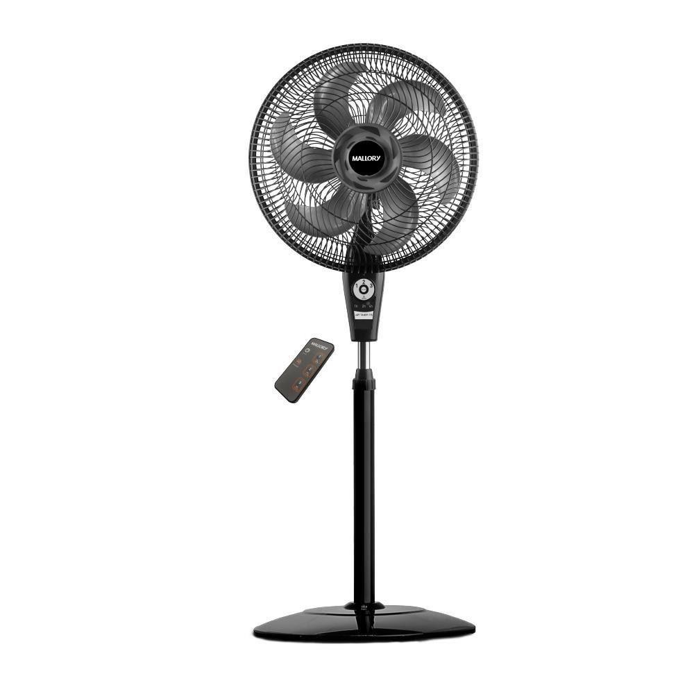 Ventilador de Coluna Mallory TS Preto Grafite Controle Remoto Air Timer