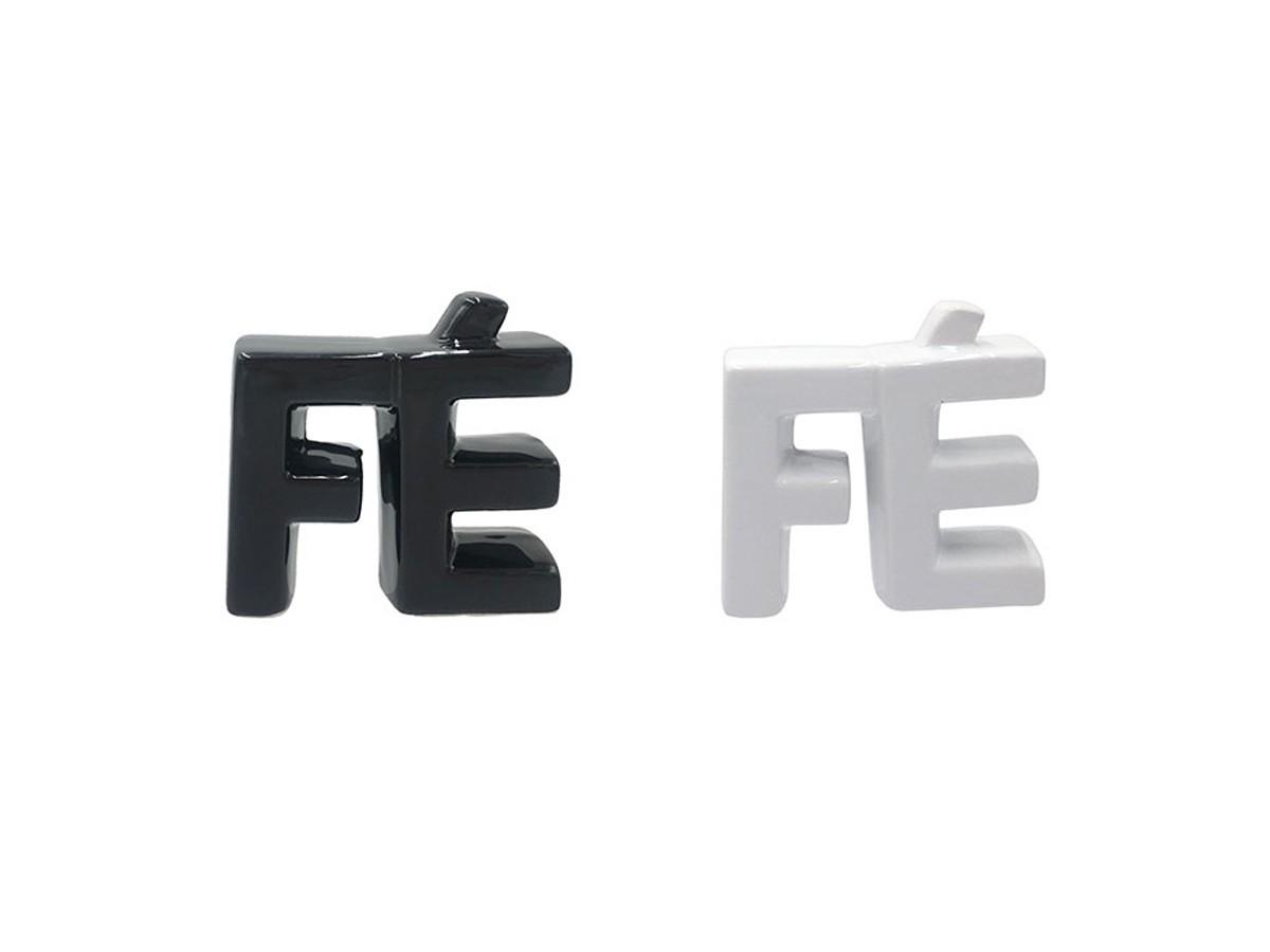 Enfeite cerâmica Fé - 8,8 x 9,4 x 9 x 3CM