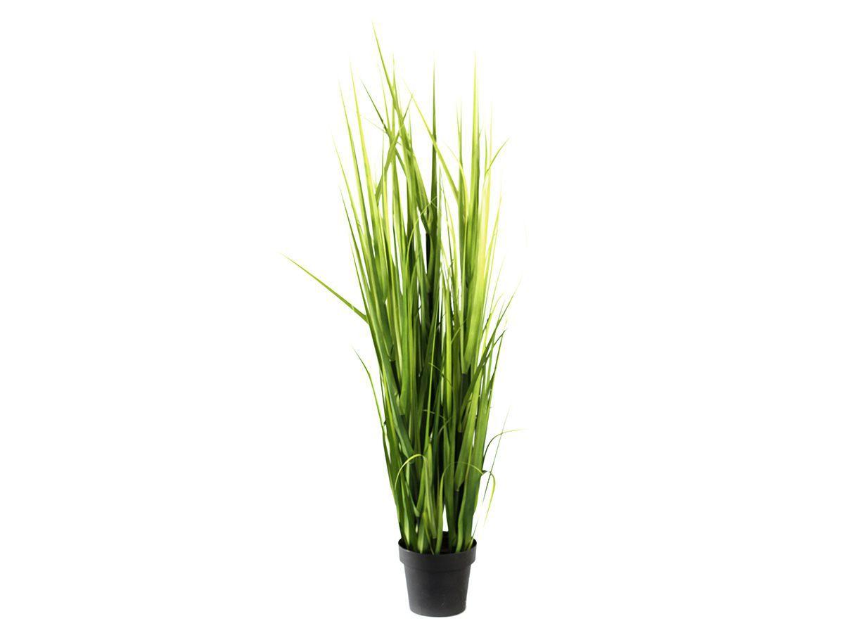 Arranjo Decorativo Folha Grass  Verde C/ Vaso 1,60Mt
