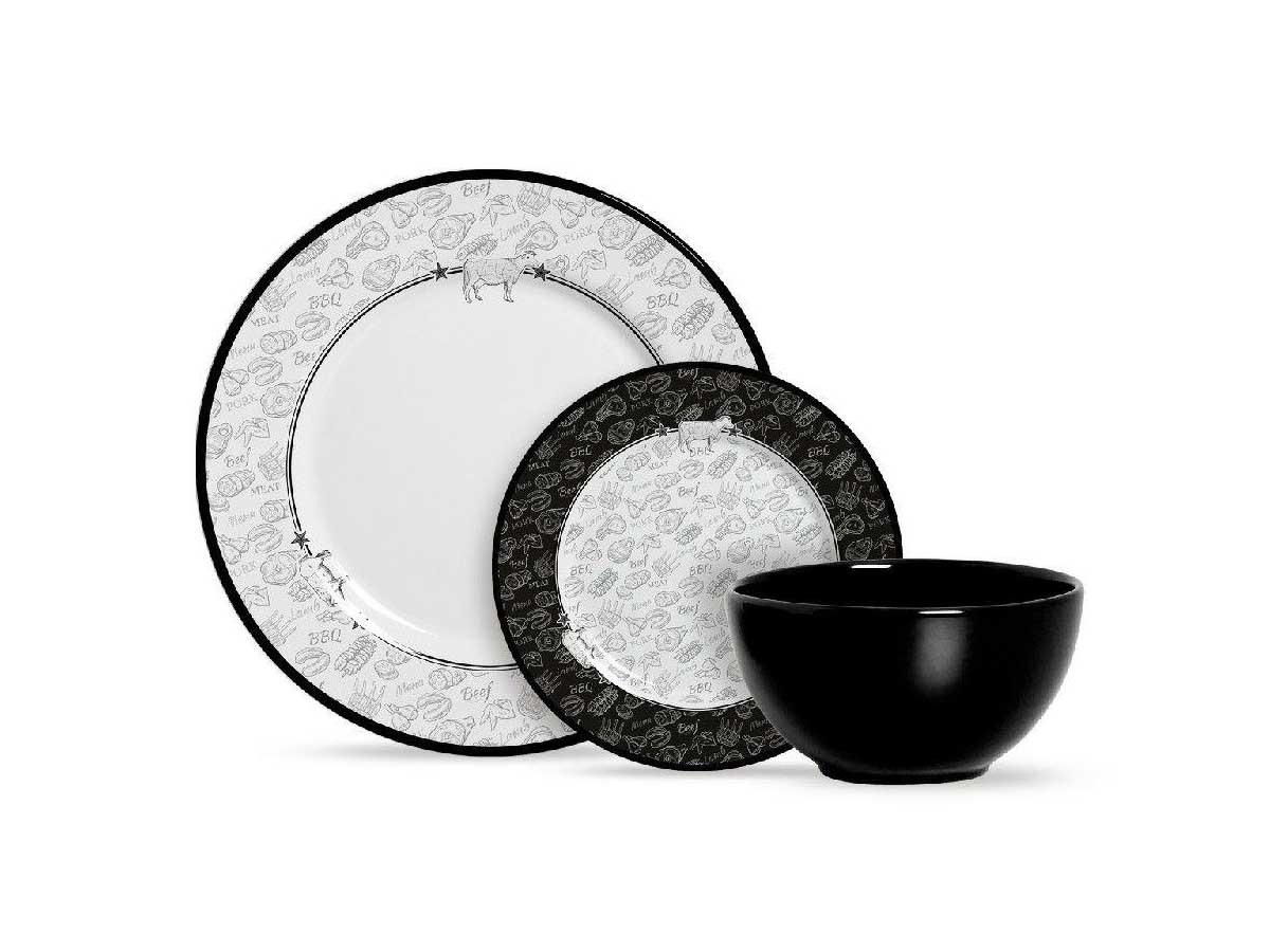 Aparelho de Jantar de Cerâmica Alleanza Barbecue 12 Peças