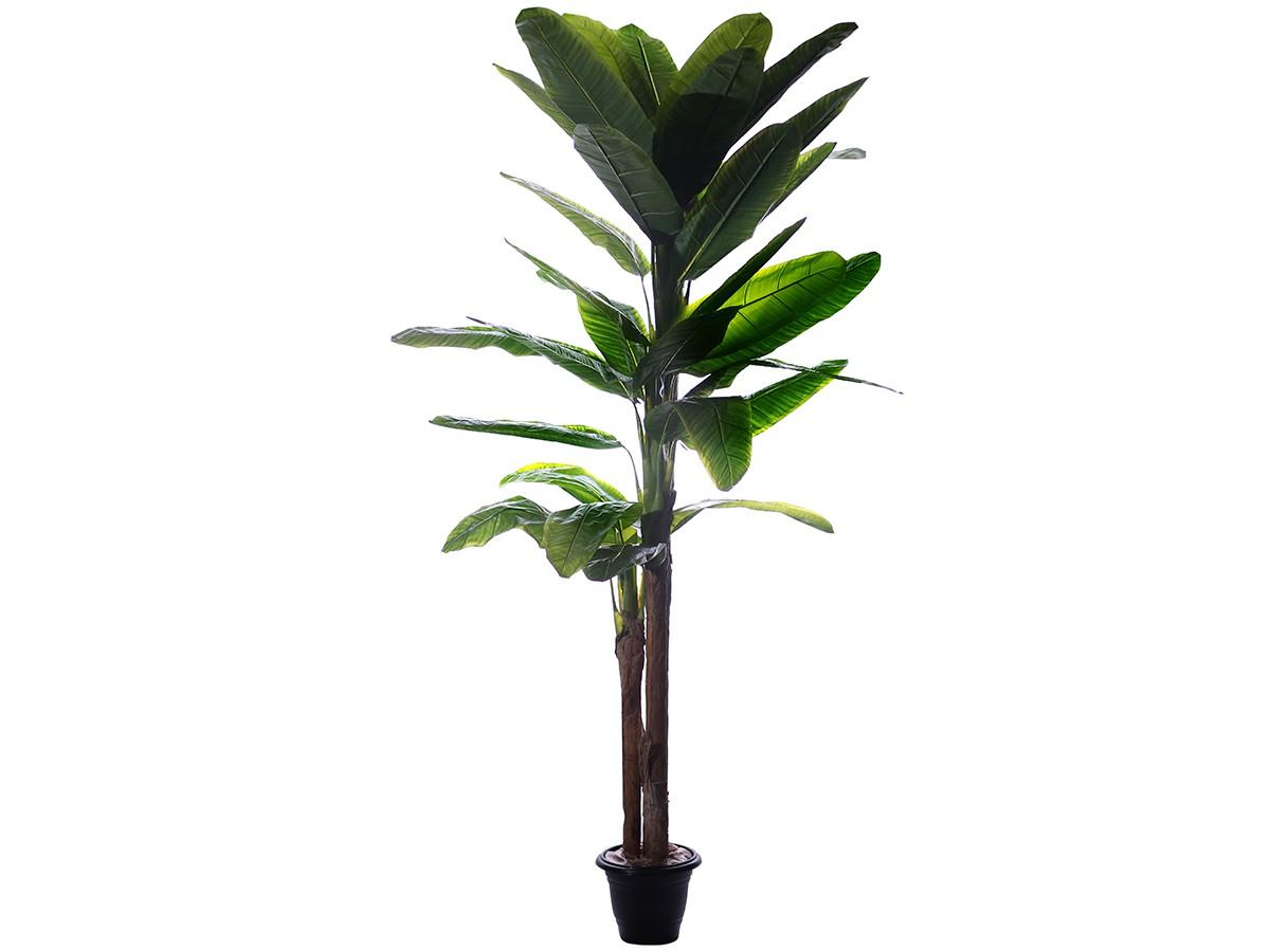 Árvore Artificial Bananeira Tripla Permanente Verde 1,80m