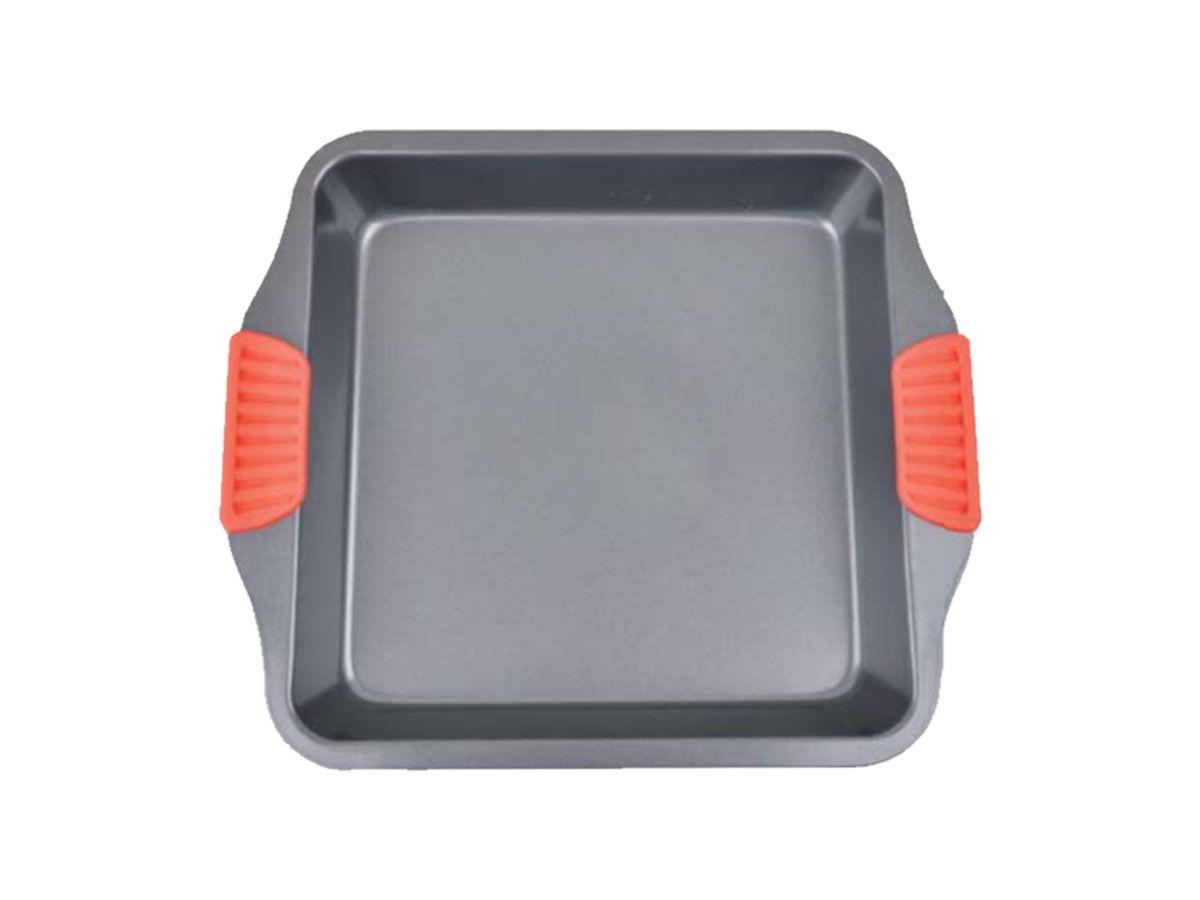 Assadeira Antiaderente com Pegador de Silicone 22,8x25,5x5cm