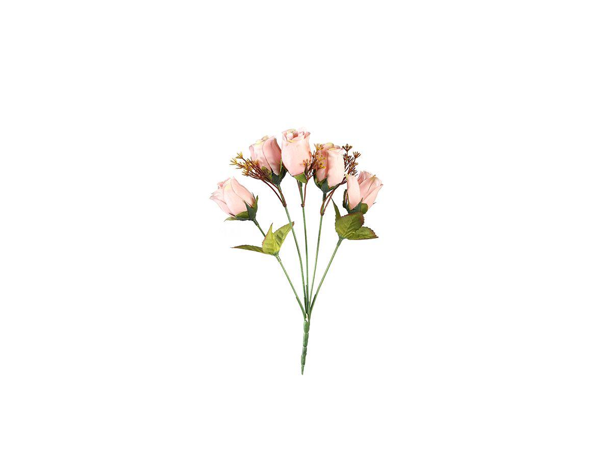 Buquê Rosas X5 Cores Diversas 30Cm
