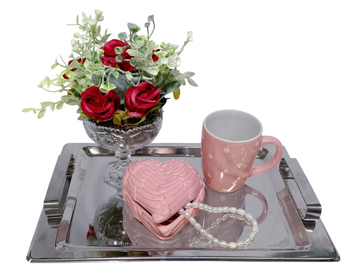 Bandeja café da Manhã Rosas Inox Prime 02