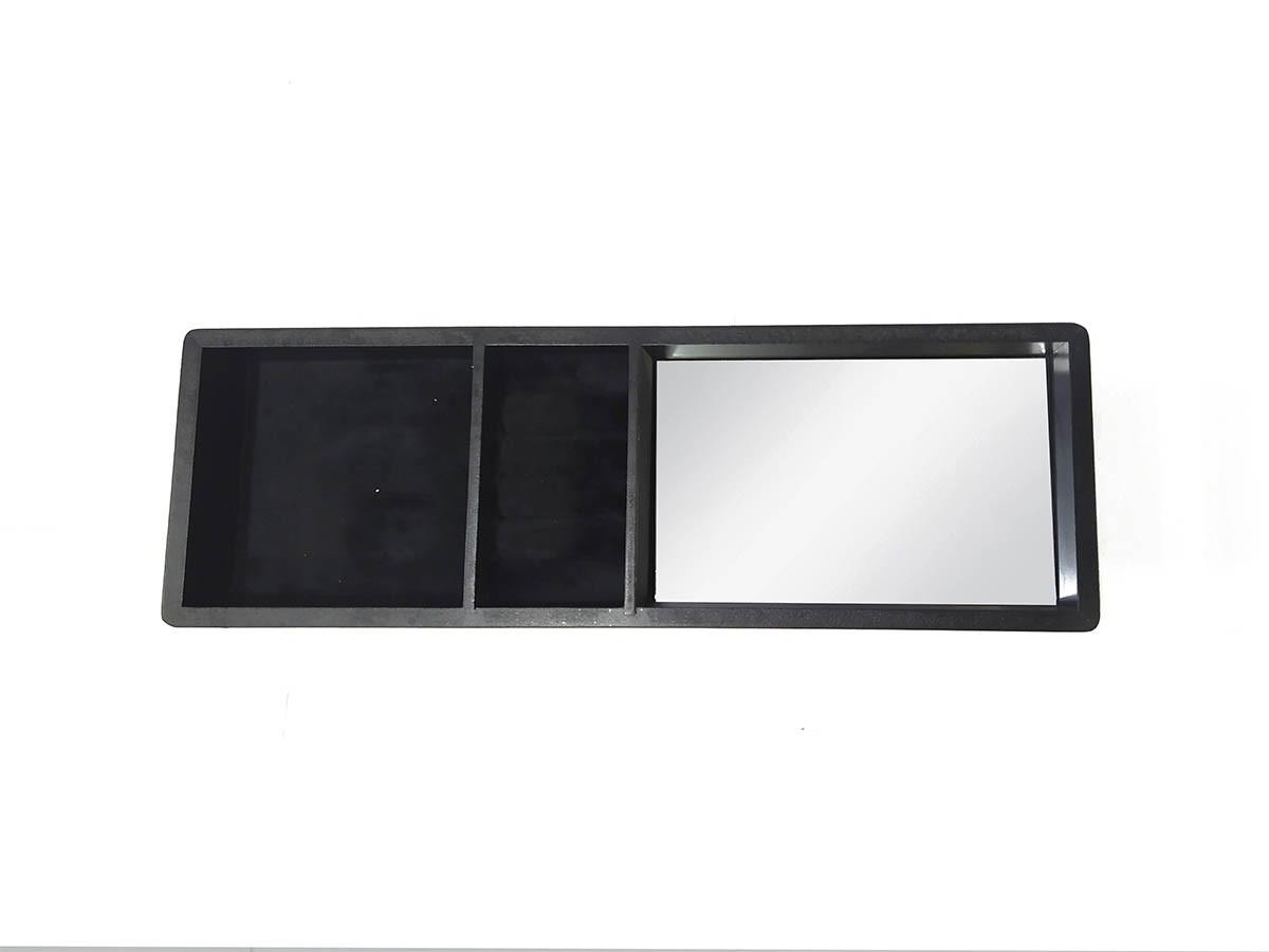 Bandeja Porta Jóias em MDF com espelho - 39,5 x 13,5 cm