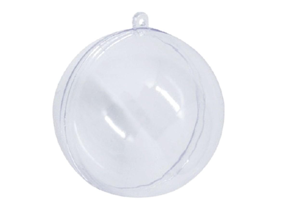 Bola Natalina Acrilica Transparente 20Cm