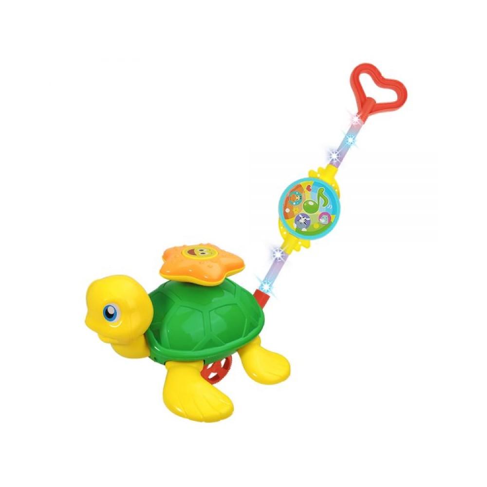 Brinquedo Infantil Empurra Baby Tartaruga Musical - Dm Toys