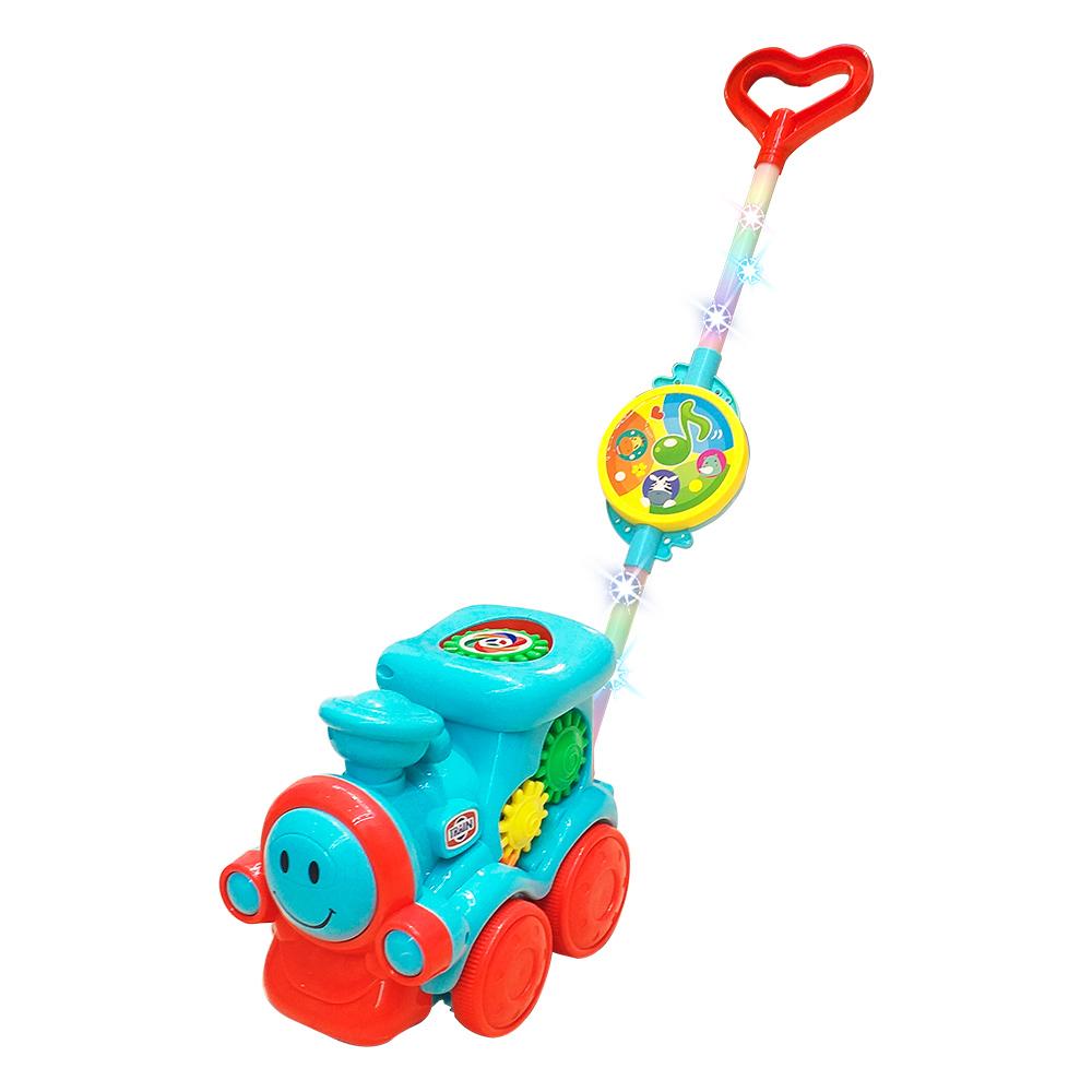 Brinquedo Musical Trem Baby de Empurrar Musical Luz Colorida