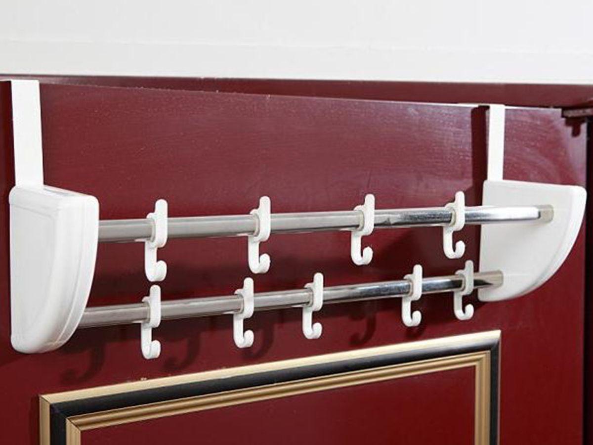 Cabide Para Porta 12 Ganchos Duplo Luxo