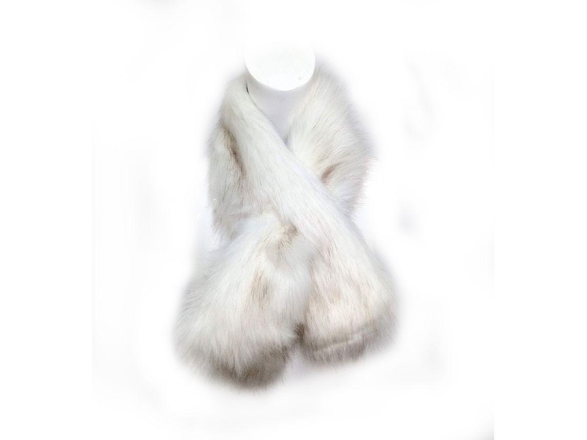 Cachecol Gola de Pele Sintetica 85x10cm