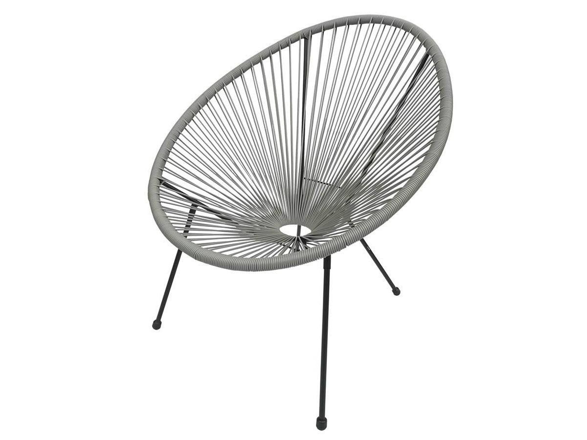 Cadeira de Jardim Acapulco Cinza com Armação Preto