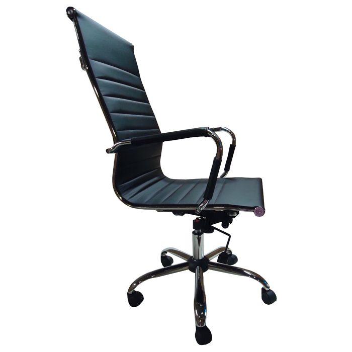 Cadeira Escritório Giratória Diretor Em Couro Ecológico