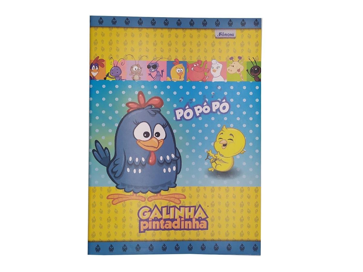 Caderno Brochura Galinha Pintadinha 1/4 80 Fls