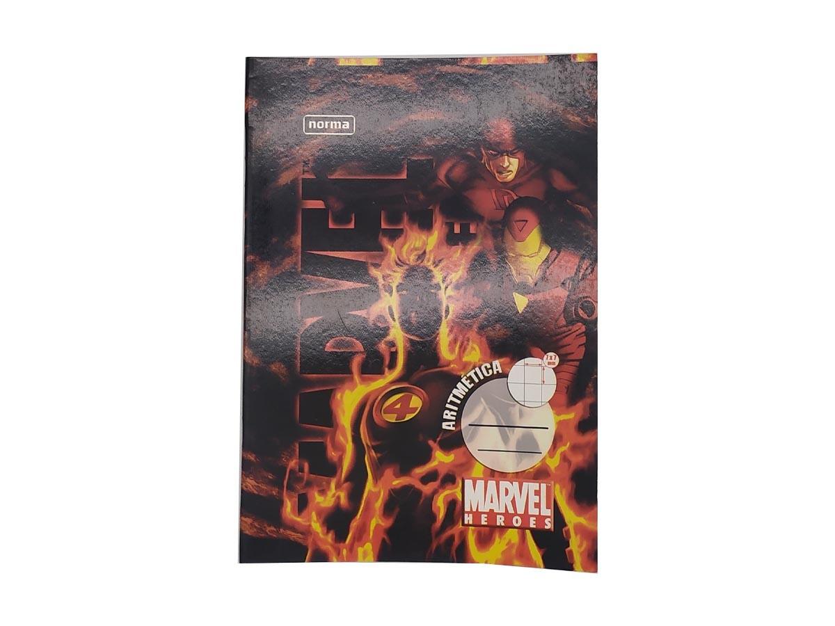 Caderno Heróis Marvel  Brochura 1/4 40 folhas