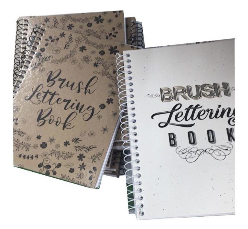 Caderno Livro De Exercícios Para Lettering Brush