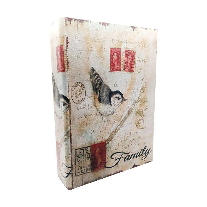 Caixa Livro Em Mdf Pássaros G