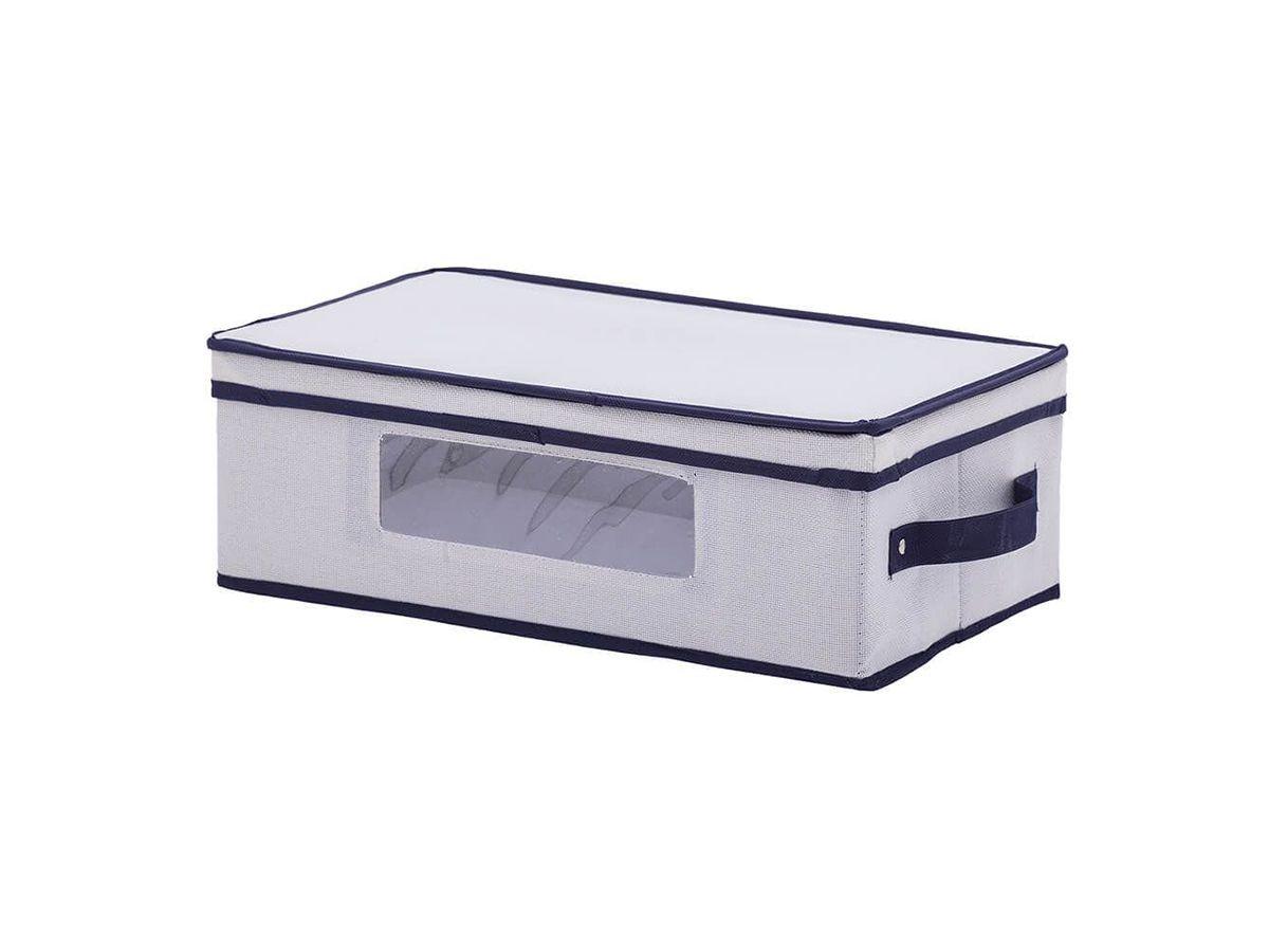 Caixa Organizadora Linho Multiuso com Visor 45x25x15cm
